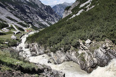 Italia - parque nacional de Stelvio imagen de archivo