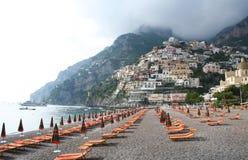 Italia. Playa de Positano. imágenes de archivo libres de regalías