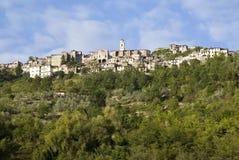 Italia Provincia de Imperia Pueblo medieval Triora Fotos de archivo
