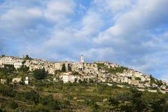 Italia Provincia de Imperia Pueblo medieval Triora Imagenes de archivo