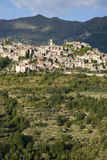 Italia Provincia de Imperia Pueblo medieval Triora Fotografía de archivo libre de regalías