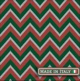 Italia que hace punto colorea el suéter battlement2 del modelo Imágenes de archivo libres de regalías