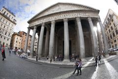 Italia que sorprende Panteon en Roma fotos de archivo libres de regalías