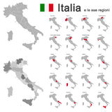 Italia and regions Royalty Free Stock Photo