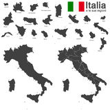 Italia and regions Stock Image