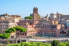 Italia, Roma, los mercados de Trajan antiguo Foto de archivo