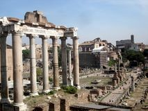 Italia roma. Ruins ancient buildings stock image