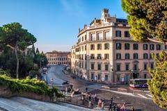 Italia, Roma, vía los di Marcelo del Teatro. Imagenes de archivo