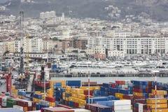 Italia, Salerno - October 22, 2018: Landscape of the Salerno Har stock image