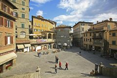 Italia, Toscana, ciudad de Cortona fotografía de archivo