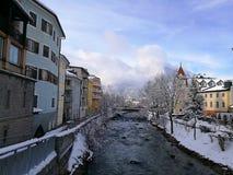 Italia, Trentino Alto Adige, Bolzano, Brunico, algunas vistas de la ciudad fotografía de archivo libre de regalías