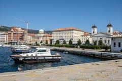 Italia, Trieste, el embarcadero atrevido foto de archivo libre de regalías