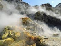 Italia, turismo, volcán, solfatara, Imagen de archivo