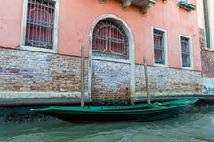 Italia, Venecia, barco Fotografía de archivo libre de regalías