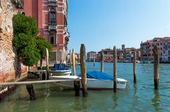 Italia, Venecia, barcos Fotografía de archivo libre de regalías