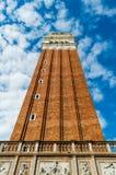 Italia, Venecia, torre, plaza San Marco Fotos de archivo libres de regalías