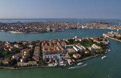 Italia, Venecia, vista aérea de la ciudad Imágenes de archivo libres de regalías
