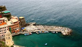Italia, Vernazza Imagen de archivo