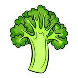 Italiaans broccolipictogram, beeldverhaalstijl royalty-vrije illustratie