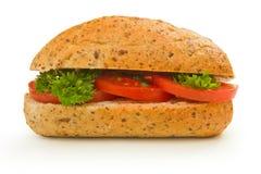Italiaans broodje met tomaten en royalty-vrije stock afbeelding