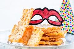 Italiaans Carnaval-gebakje stock foto