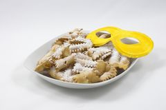 Italiaans Carnaval zoet voedsel Royalty-vrije Stock Foto's