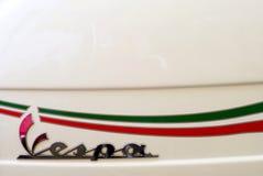 Italiaans de autopedembleem van Vespa Royalty-vrije Stock Foto's
