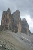 Italiaans Dolomiet, Cime Tre Stock Foto's