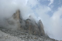 Italiaans Dolomiet, Cime Tre Stock Fotografie