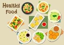 Italiaans en Chinees keukenpictogram voor voedselontwerp stock illustratie