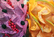 Italiaans fruitroomijs Stock Foto's
