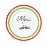 Italiaans het ontwerpmalplaatje van het restaurantmenu Stock Afbeelding