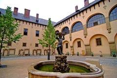 ITALIAANS hof in KUTNA HORA, Tsjechische Republiek Royalty-vrije Stock Foto's