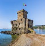Italiaans kasteelpanorama royalty-vrije stock fotografie