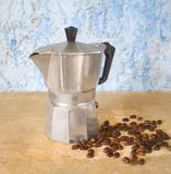 Italiaans koffiezetapparaat stock afbeeldingen