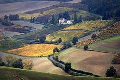 Italiaans land Oltrepò Pavese royalty-vrije stock foto's