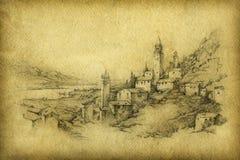 Italiaans landschap Royalty-vrije Stock Afbeeldingen
