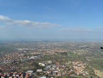 Italiaans landschap boven San Marino Royalty-vrije Stock Foto's
