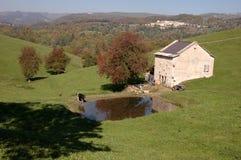 Italiaans landschap met landbouwbedrijf Royalty-vrije Stock Foto