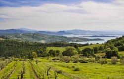 Italiaans landschap van Umbrië Stock Afbeelding
