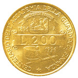 200 Italiaans Liremuntstuk Stock Foto