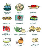 Italiaans menu stock illustratie