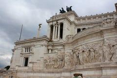 Italiaans monument Vittorio Emanuele Stock Foto