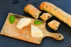 Italiaans olijvenbrood stock afbeelding