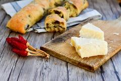 Italiaans olijvenbrood royalty-vrije stock foto