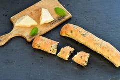 Italiaans olijvenbrood royalty-vrije stock foto's