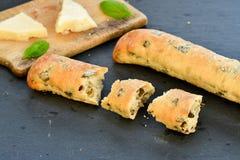 Italiaans olijvenbrood stock fotografie