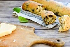 Italiaans olijvenbrood stock foto