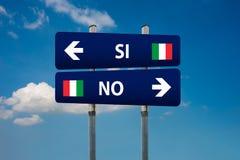Italiaans referendum ja & x28; SI& x29; of nr & x28; NO& x29; Stock Foto's