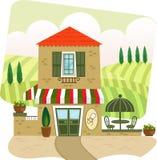 Italiaans Restaurant stock illustratie